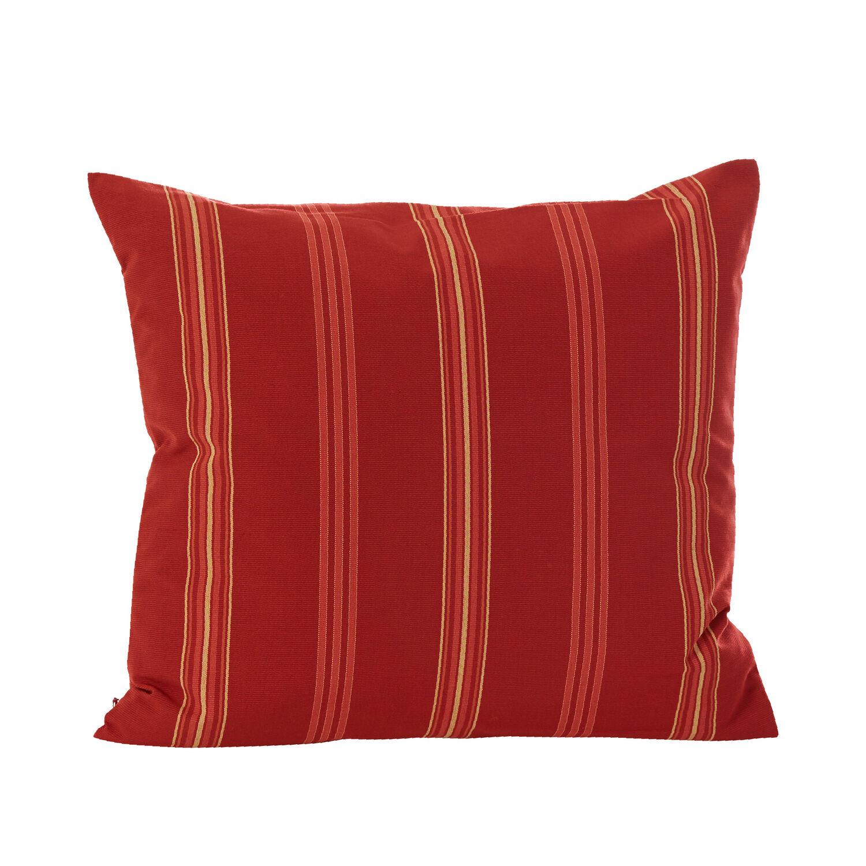 Cranberry Stripes Feather Throw Pillow Garpa