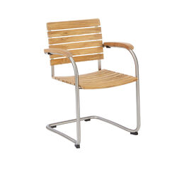 Bolero Stackable Cantilever Chair, Teak