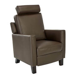 Tobago Leather Armchair, Brown