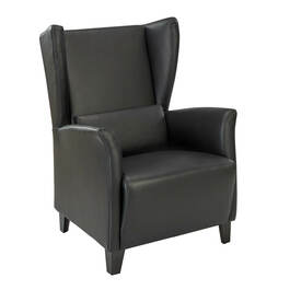 Marlowe Leather Armchair, Black