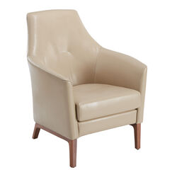 Tadeo Leather Armchair, Chamois
