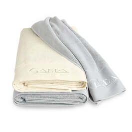 Riviera Lounger Towel Silver Grey 80 x 210