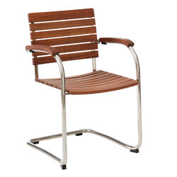 Jive Stackable Cantilever Chair, Walnut