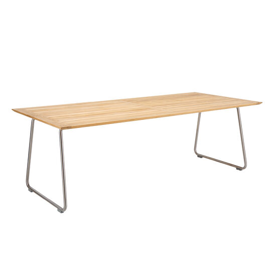 Gartentisch 220x100.Ronda Sled Base Table 220 X 100 Teak Garpa