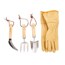 Garden Tool Set for Tool Cabinet small (Gloves Size 8)