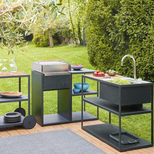 Grill kuche outdoor for Outdoorkuche mit gasgrill