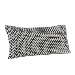 Feather Cushion 60 x 30 Rombo White/Marine