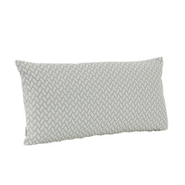 Feather Cushion 60 x 30 Rombo White/Bleu