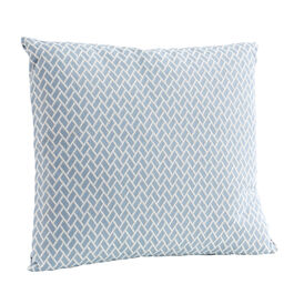 Feather Cushion 50 x 45 Rombo Bleu /White