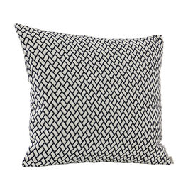 Feather Cushion 50 x 45 Rombo White/Marine