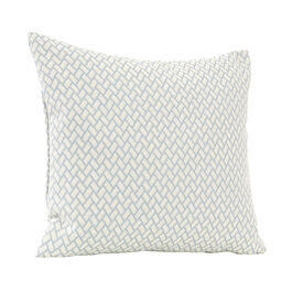 Feather Cushion 50 x 45 Rombo White/Bleu