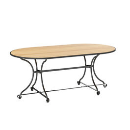 Fontenay Lounge Table oval 160 x 85 with teak top